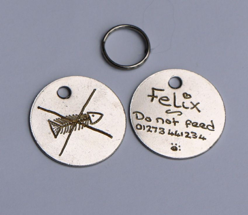 BULK BUY BARGAIN PACK OF 30 HAND OR MACHINE ENGRAVED 20, 25 OR 30 MM PET TAGS